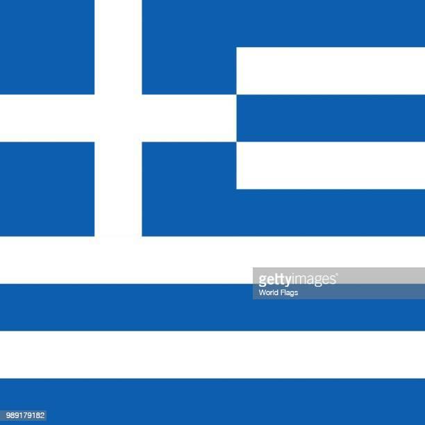 official national flag of greece - balkans stock illustrations, clip art, cartoons, & icons