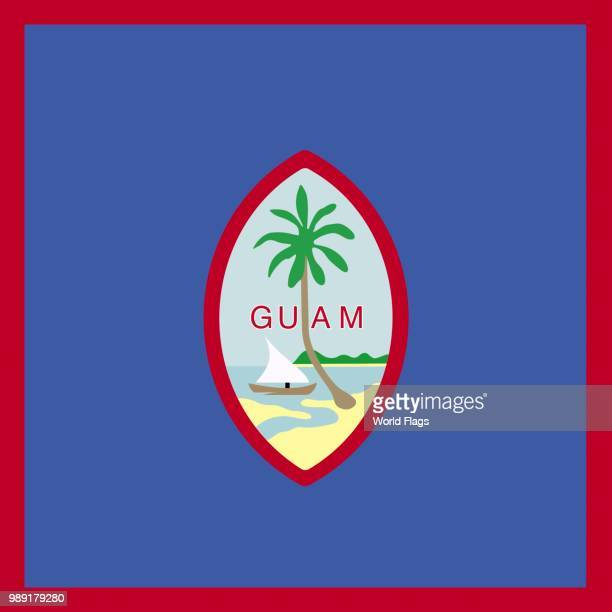 Official national flag of Guam