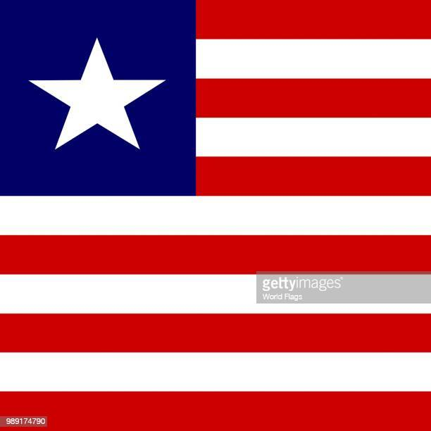 official national flag of liberia - liberia stock illustrations, clip art, cartoons, & icons