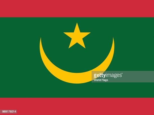 Official national flag of Mauritania