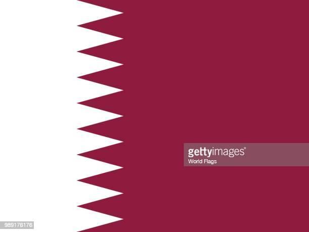 official national flag of qatar - qatar stock illustrations, clip art, cartoons, & icons