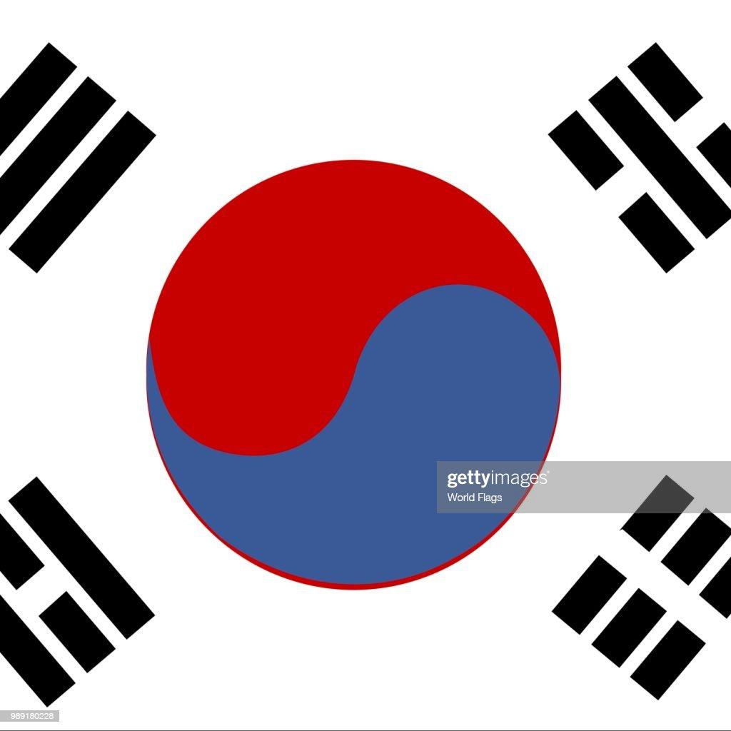official national flag of the republic of korea south korea ストック
