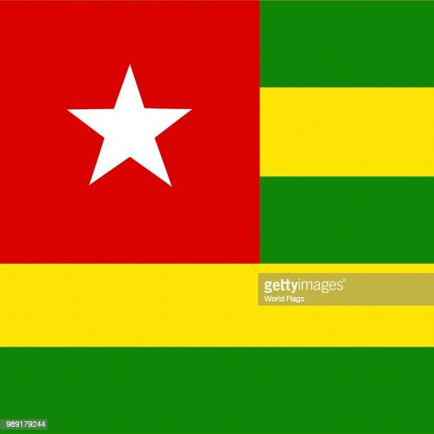 official national flag of togo - togo stock illustrations, clip art, cartoons, & icons