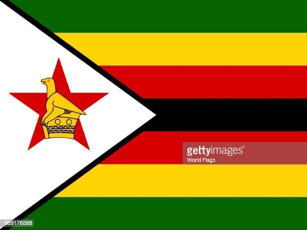 official national flag of zimbabwe - zimbabwe stock illustrations, clip art, cartoons, & icons