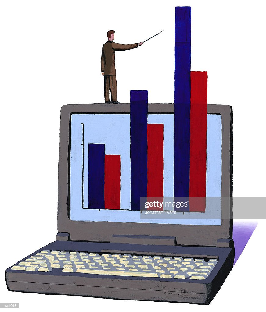 Off-the-Chart Growth : Stock Illustration