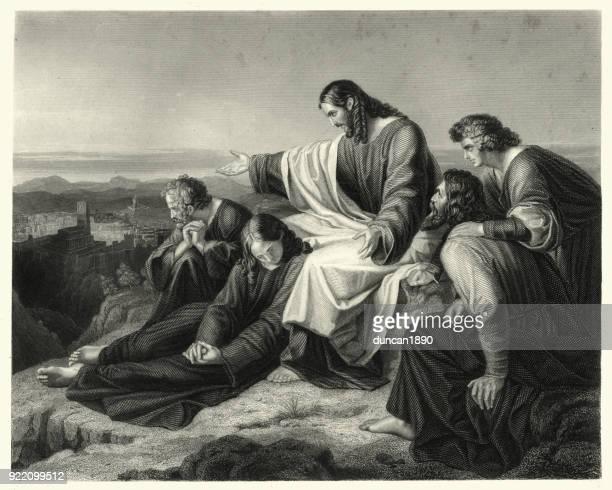 ilustrações de stock, clip art, desenhos animados e ícones de oh jerusalem jerusalem you who kill the prophets - jesus cristo
