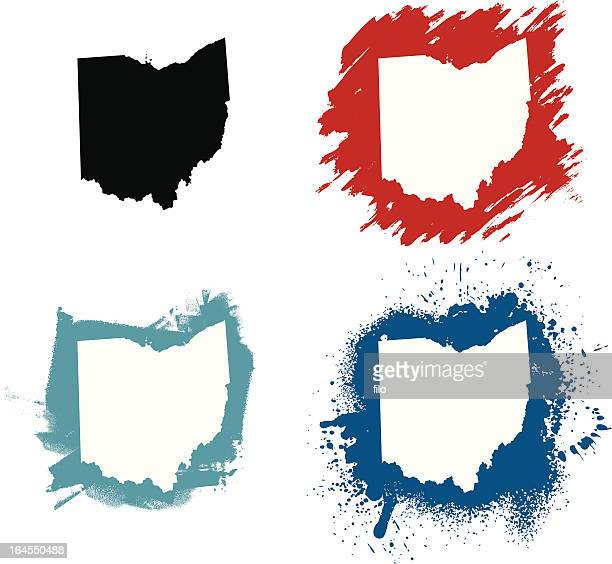 オハイオ州 - オハイオ州点のイラスト素材/クリップアート素材/マンガ素材/アイコン素材