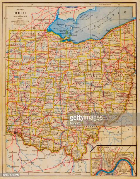 1883 Ohio State Map