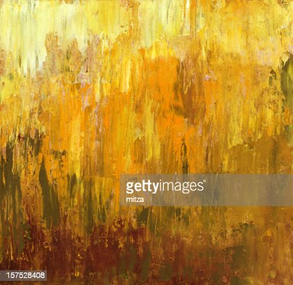 Oil Painted Abstract Background In Fall Colors Stock
