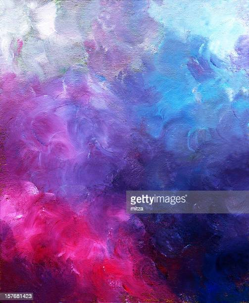 Oil painted background in red,purple and blue