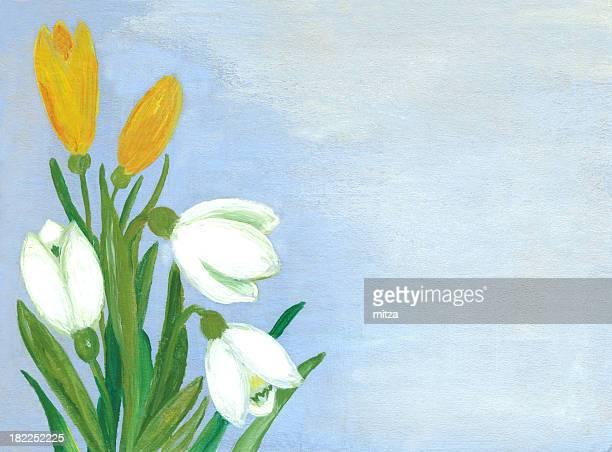 Oil Painted Springtime Flowers