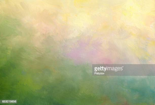 oil painting abstract background - impressionism stock illustrations