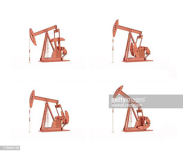 oil pumps, artwork - oil pump stock illustrations, clip art, cartoons, & icons