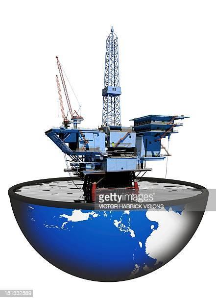 ilustraciones, imágenes clip art, dibujos animados e iconos de stock de oil rig, artwork - torre petrolera