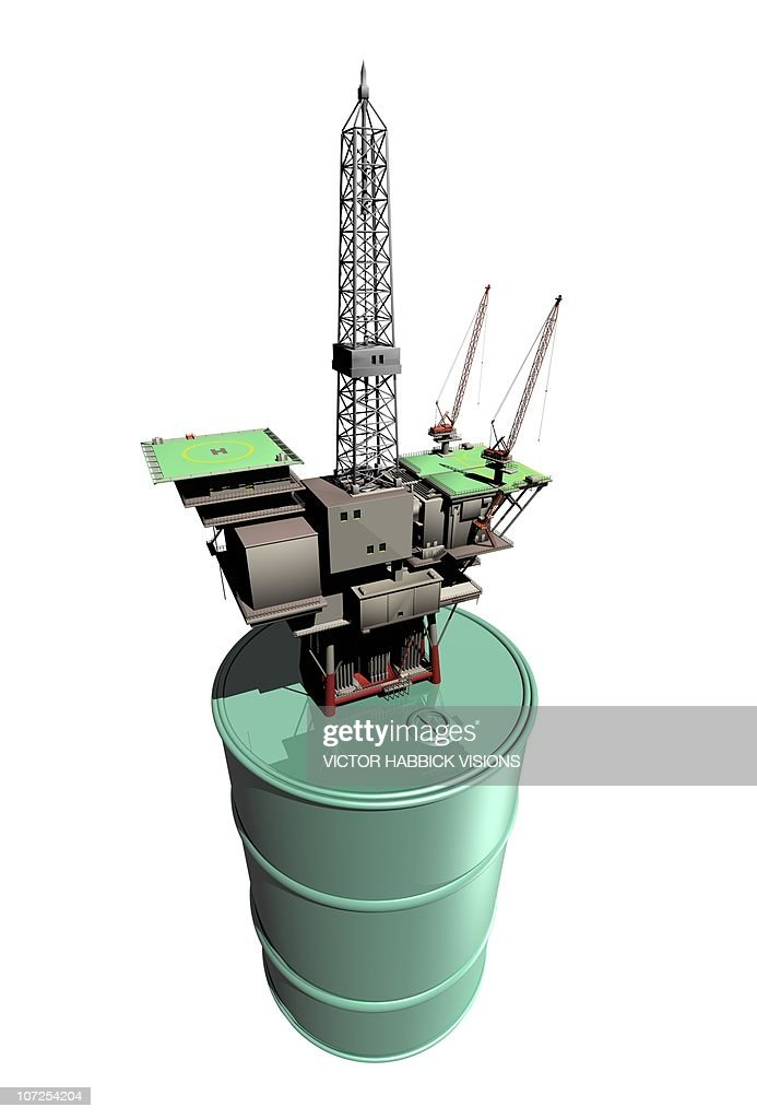 Oil rig, conceptual artwork : Ilustração