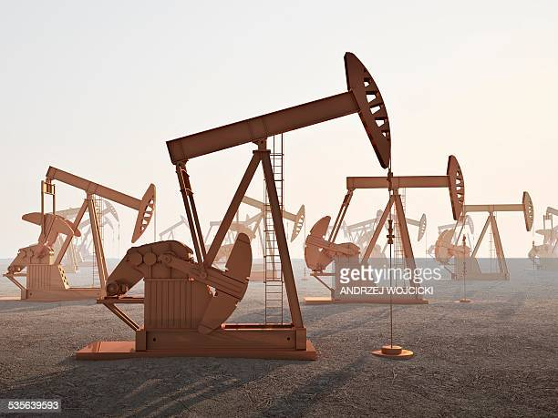 oil wells, artwork - oil pump stock illustrations, clip art, cartoons, & icons