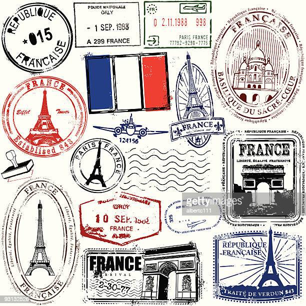 ol paire - france stock illustrations