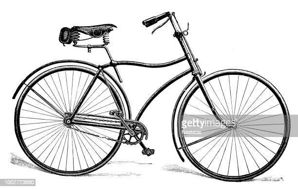 ilustrações de stock, clip art, desenhos animados e ícones de old bicycle - arcaico