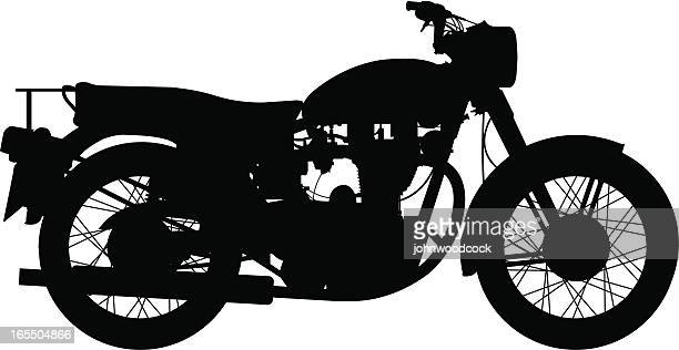 old bike - vintage motorcycle stock illustrations