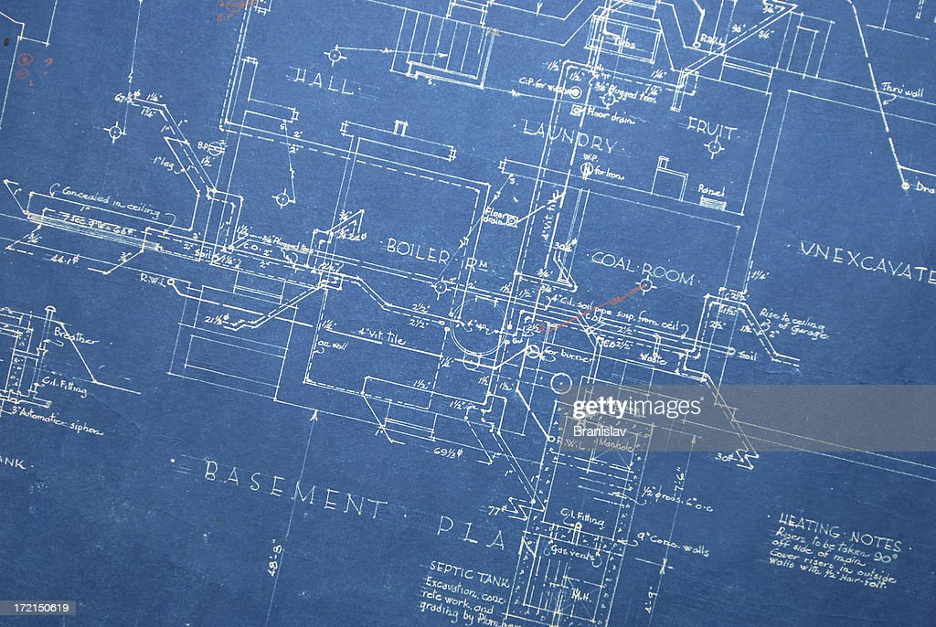Old blueprint heating stock illustration getty images old blueprint heating stock illustration malvernweather Images