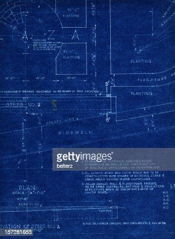 Old blueprint stock illustration getty images malvernweather Images