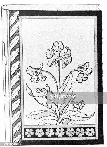 Old Book With Flower Title