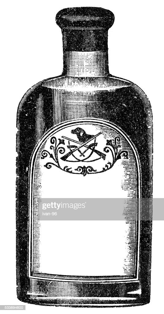 old bottle : stock illustration