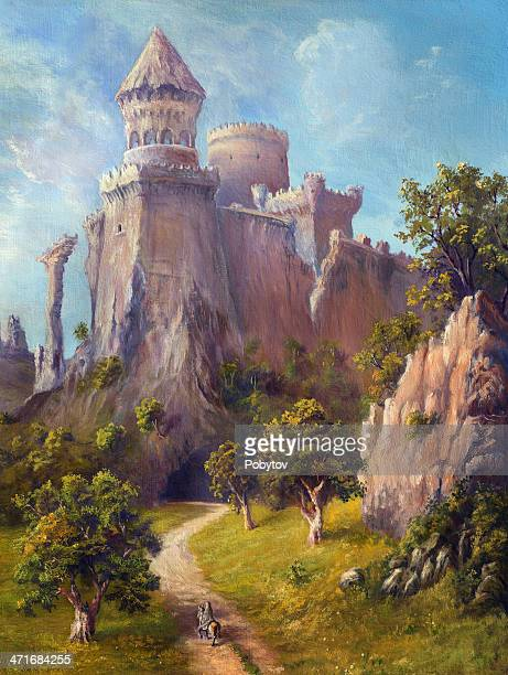 ilustrações, clipart, desenhos animados e ícones de old castle - castelo