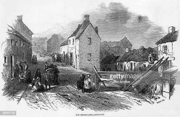 Old Chapel Lane, Skibbereen, County Cork during The Great Famine which was caused by the failure of the Irish potato crop and British government...