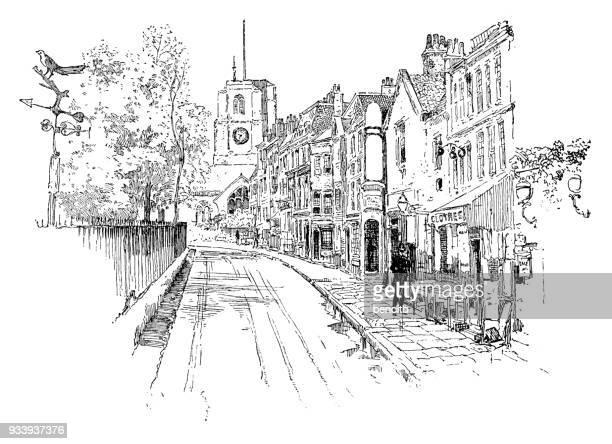 Old city street in London