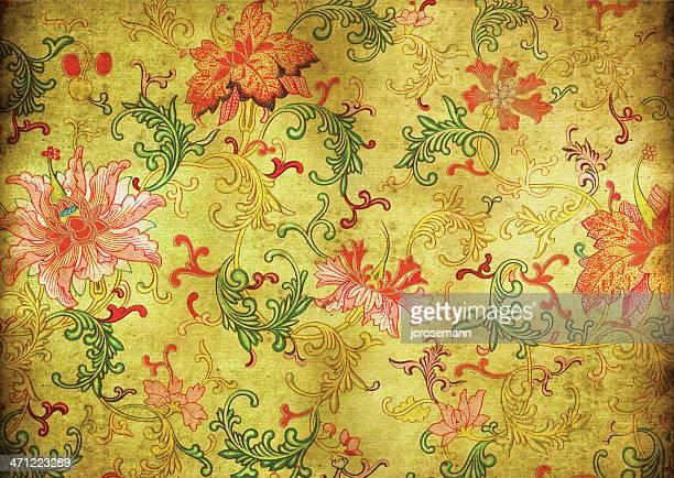 古い汚れたアジアの壁紙