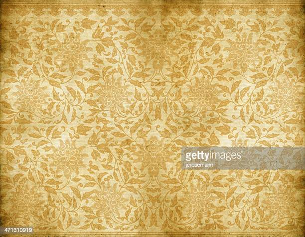old dirty floral wallpaper - home decor stock illustrations, clip art, cartoons, & icons