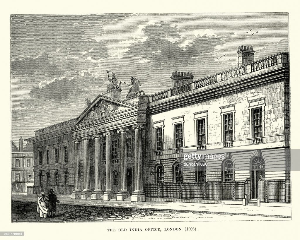 Old East India House Office, London, 19th Century : stock illustration