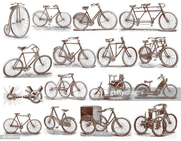 Old Fashioned Bicycles