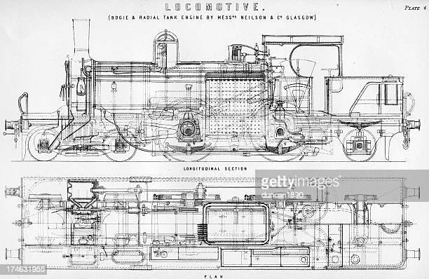 Old fashioned steam train locomotive