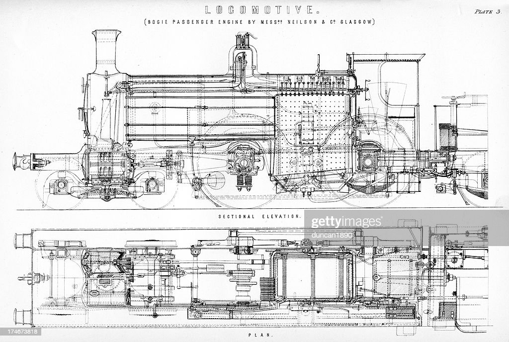 old fashioned steam train locomotive stock illustration getty images Parts of a Train Car