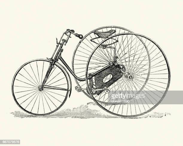 Old fashioned victorian tricycle