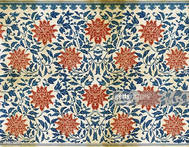 old floral wallpaper - porcelain stock illustrations