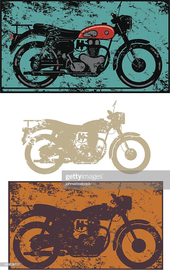 Old grunge motorbike