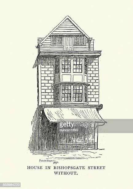 Old House in Bishopsgate Street, London