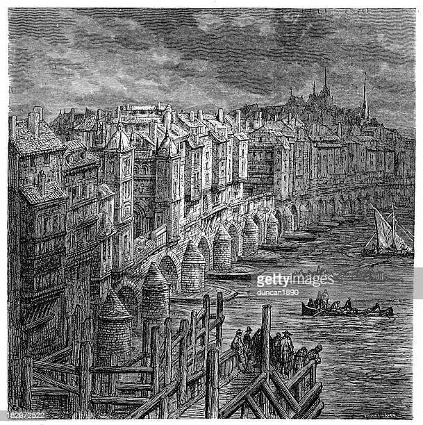 Old London Bridge 1694