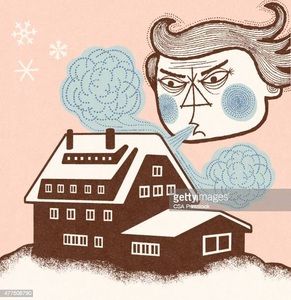 old man winter blowing - frost stock illustrations, clip art, cartoons, & icons
