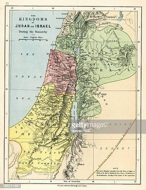 Old Map: Kingdoms of Judah and Israel