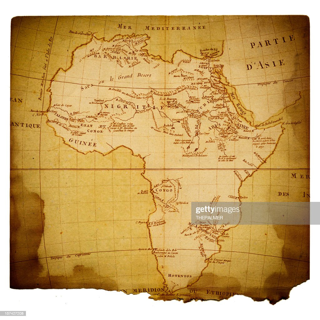 Old Map Of Africa Stock Illustration | Getty Images