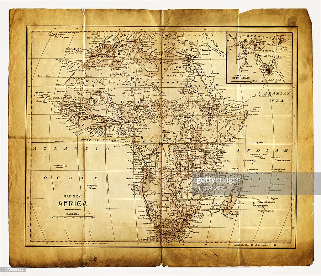 Old Map Of Africa Stock Illustration Getty Images