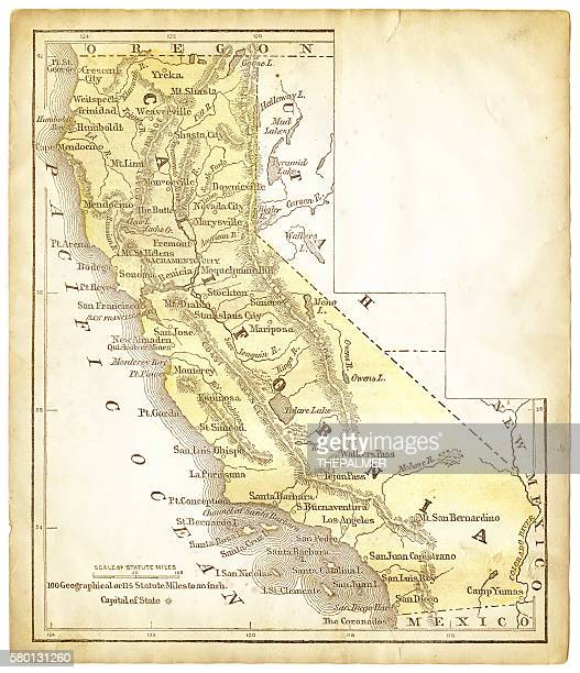 Old map of California 1856