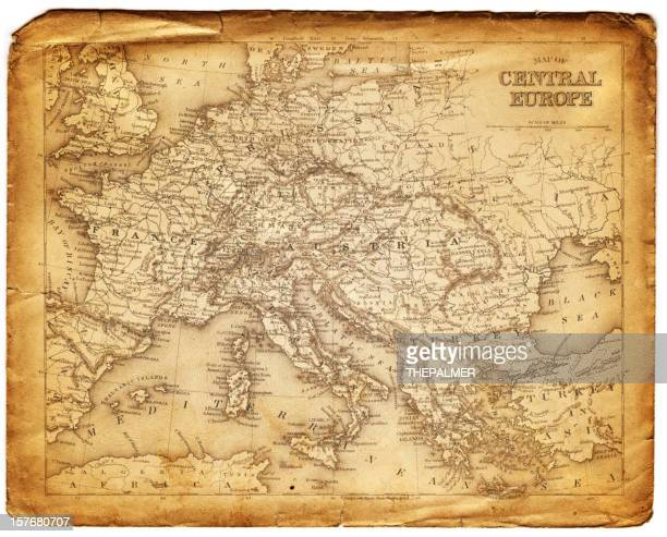 old map of central europe
