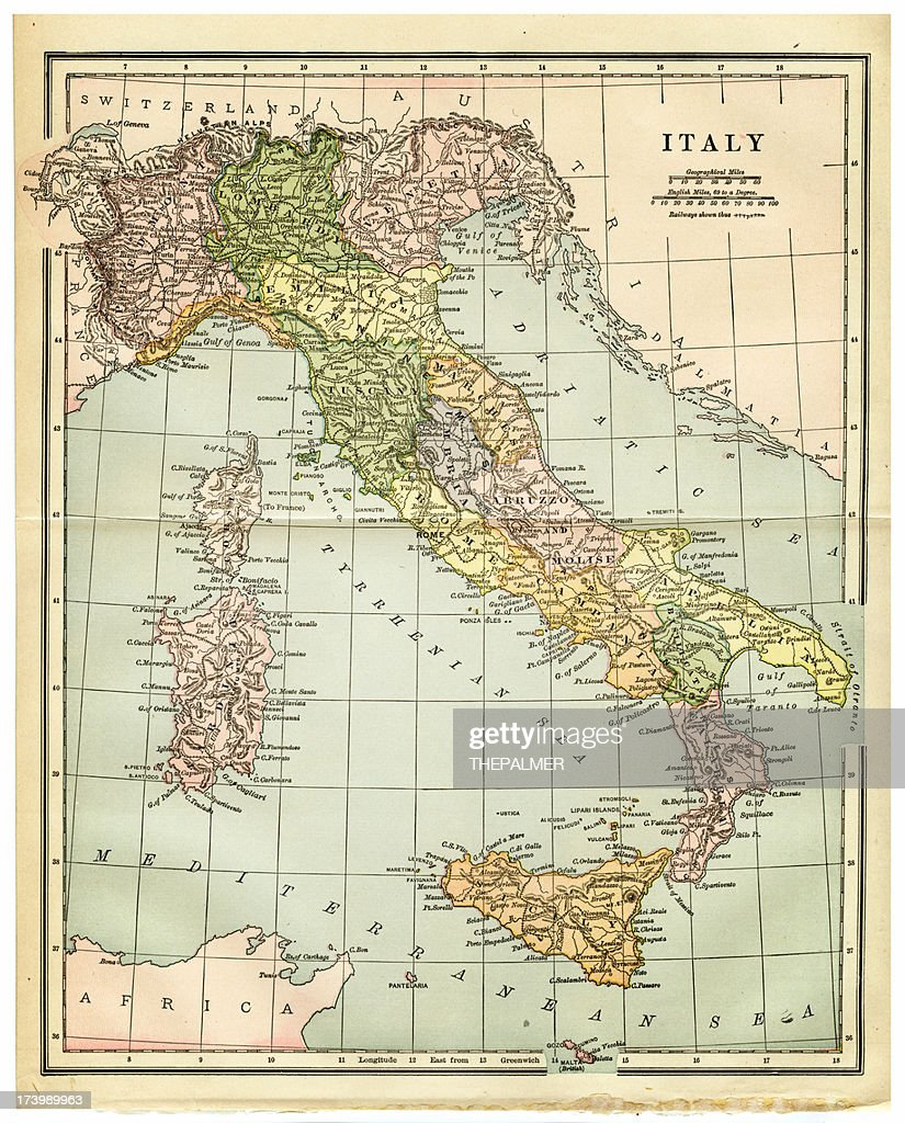 Old map of italy stock illustration getty images old map of italy stock illustration gumiabroncs Choice Image