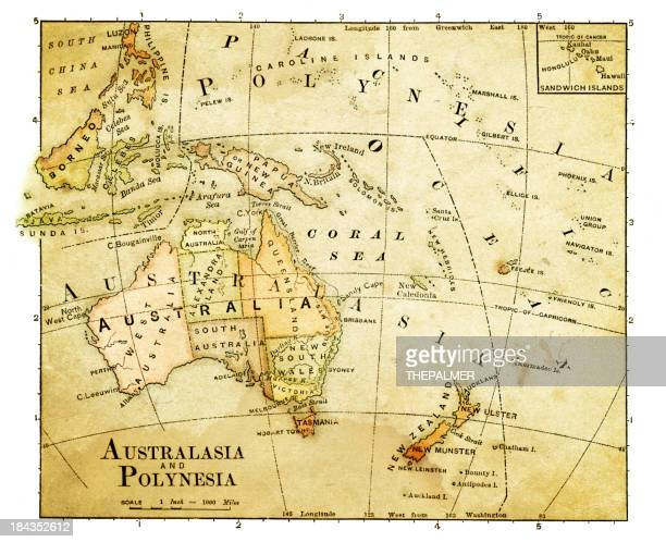 old map of oceania