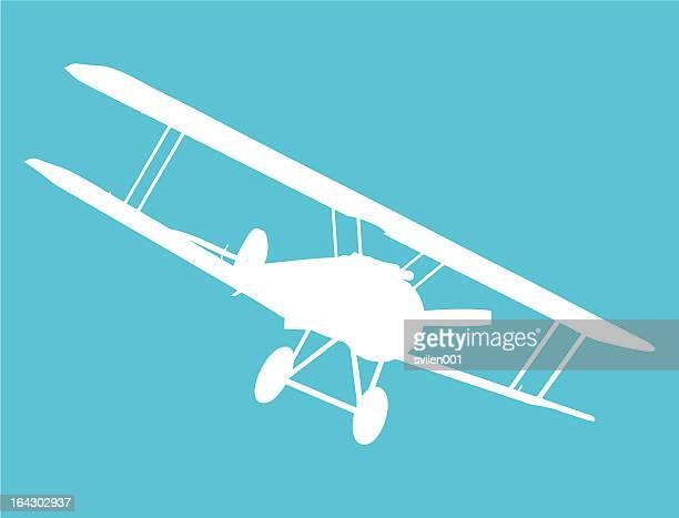 old military biplane - biplane stock illustrations, clip art, cartoons, & icons